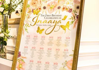 party table plan
